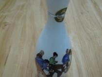 Veche sticla coniac 1880,foarte rara,din portelan-colectie