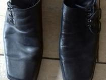 Pantofi piele firma negri