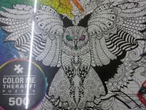 Puzzel de montat si colorat cu 500 piese