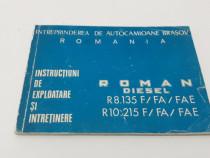 Instrucțiuni de exploatare și întreținere roman diesel r8.13