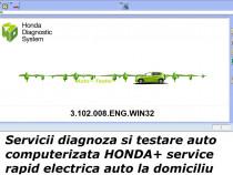 Diagnoza Honda testare cu tester service auto la domiciliu