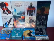 LOT 12 filme BluRay 2D+3D STEELBOOK , cu/fara romana, NOI !