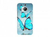 Husa Silicon HTC One M9 Blue Butterfly PRODUS NOU