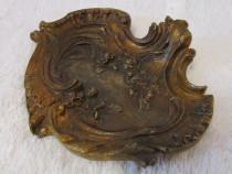 Vide poche scrumiera bronz art nouveau model floral