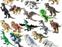Dinozauri uriasi tip Lego de 30 cm cu T-Rex si Indominus Rex