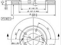 Disc frana 09558411 MAZDA MX-6 (GE) 2.5 i 24V 120kw