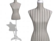 Bust croitorie damă din in cu dungi(30031)