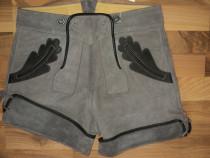 Pantaloni bavarezi noi din piele naturala,bavaria,oktoberfes