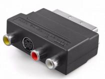 Adaptor video SCART - RCA + S-video 4 pini