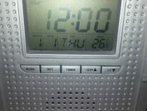 Radio portabil Konig AM-FM cu Termometru, ceas, alarma