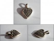 Medalion argint - inima (2)