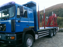 Camion forestier MAN 6x6 tr. busteni cu macara LogLift 135 Z