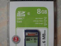 HAMA, Germania, card de memorie SD, capacitate 8GB, nou, sig
