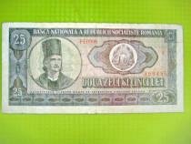 2 Bancnote 25 lei 1966 circulate.
