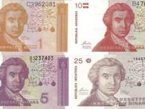 Lot 9 bancnote croatia 1991-2012 unc