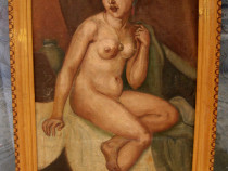 Tablou nud, copie veche de epoca dupa C Ressu Aise, 1929