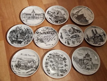 Set 10 farfuriute decorative din portelan (Bavaria).