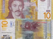 Lot 4 bancnote SERBIA 2011-2013