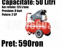 Compresor Aer Vopsitor Atelier Service 50 litri 2 Cp 8 Bari