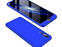 Husa telefon plastic huawei p20 360 full cover blue nou