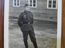 Ww2-3Reich-Militar langa baraca, piesa originala anii 1940.