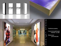Casete iluminate Textil si Plexiglass