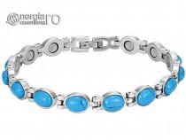 Bratara Magnetica cu Cristale Turcoaz si Magneti -cod BRA016