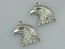 Pandantiv otel inoxidabil cap de vultur amuleta norocoasa