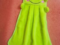 Prosop broscuta copii verde 35 cm lungime - Nou ambalat