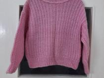 Pulover mohair roz deschis copii fete 3 - 4 ani - Nou