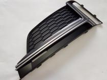 Grila proiector AUDI A5/S5 B9 S Line STANGA - 8W6807681KLi