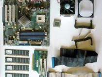 Kit pc : placa de baza, procesor, memorii, hdd, dvd-rw, etc