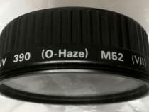 Filtru foto UV 390 Hama M52 + capac protectie