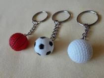 Brelocuri mingi de golf/baschet/fotbal