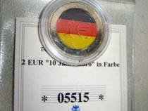 A199-UNC-Medalia aniversara moneda 2 euro 1999-2099steag RFG