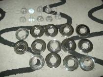 Spoturi metalice cromate 14 buc.