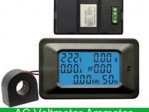 Power metru de panou wattmetru 100A, 85 -250VAC ampermetru