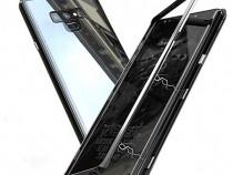 Samsung Note 9 - Husa Magnetica Spate Din Sticla si Rama Met