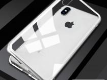 Iphone x xs 10 - husa magnetica spate din sticla si rama met
