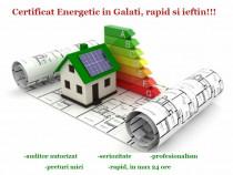 Certificat Energetic Galati si Braila , rapid si ieftin