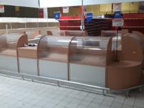 Mobilier lemn vitrine magazin, tejghea, rafturi spatii comer