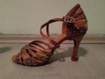 Pantofi de dans latin / sandale de dans toc 9 cm mărime 37.5