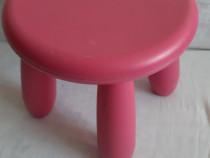 Scăunel Ikea roz