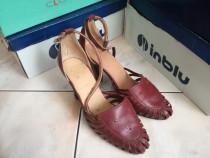 Pantofi vintage de dama din piele