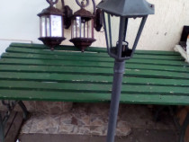 Stilp de iluminat exterior si 2 felinare de perete