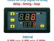 Releu de timp programabil temporizator timer digital 220V