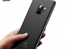 Samsung A6 A6+ A7 A8 A9 2018 Husa Baseus Silicon Neagra + Fo
