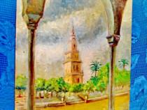 9751-Pictura-La Geralda Seville-ulei pe panza lipita placaj.