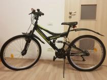 Bicicleta mtb dhs kreativ 2641 cu suspensie, stare excelenta