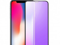 Iphone X XS XR XS MAX 7 7+ 8 8+ Folie Sticla Securizata Blue
